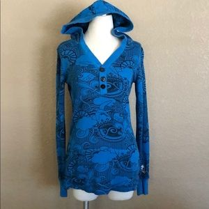Infamous Blue & Black Hooded Thermal with Pocket